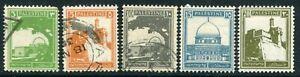 Weeda Palestine #64/77 Used & MH 1927-42 issue CV $9.00