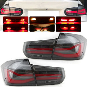 LED Smoked Dynamic Sequential Tail Light Lamp For BMW 3 Series F30 F80 2011-2019