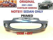 2001 2002 2003 OEM chrysler sebring front bumper cover (SEDAN only 4 door)primed