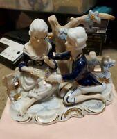 KPM Germany  Porcelain Figurine Couple in the Garden VINTAGE