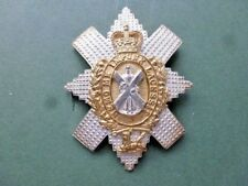 Black Watch cap badge for warrant officers and officers in gold & silver plate