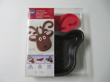 NEW WILTON REINDEER CAKE PAN SET W/ MOLD FOR ANTLERS