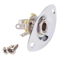 1/4'' Oval Shape Guitar Output Jack Plate Socket for Electric Guitar Bass
