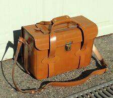 """Vintage Hardshell Brown Vinyl Shoulder Camera Carrying Case14.5"""" x 10"""" x 6.5"""""""