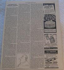 VINTAGE Magazine PAPER Ads ZIPPO UNERWOOD DEVILED HAM Sleeve & Cardboard B & W