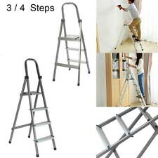 More details for 3 4 tread step ladder folding aluminum ladders with safety non-slip step