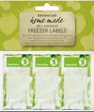 60 étiquettes congélation décoratif pour sacs & containers...