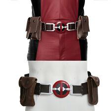 XCOSER Deadpool Belt New Movie Version Belt with 4 pockets Costume Accessories