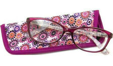 Foster Grant Readers Choice Womens Gwennie Reading Glasses, Pink +1.75 With Case