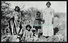 c1905 Aboriginal Aborigine Woman & Children Family Murchison Australia Postcard