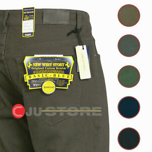 Pantaloni uomo fustagno tipo JEANS COTONE CALDO elasticizzato taglie forti 46/68