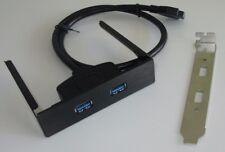 3,5 Zoll Front Panel, 2 x USB 3.0 Verlängerung inkl. Slotblende, Fronteinschub