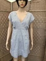 TOM JOULES UK size 14. CAP sleeved, silver grey spot cotton  dress cottagecore