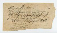 1760 East Greenwich, RI Note - James Wightman Whitman, Benoni Hall, R.I., Cider
