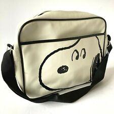 More details for peanuts snoopy white messenger shoulder satchel bag strap faux leather (2015)