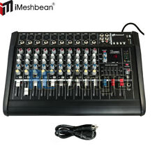 10 Channel Professional Powered Mixer Power Mixing Amplifier Amp 16DSP 48V USA