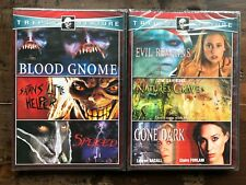 DVD lot New Free Ship 6 Horror movies Blood Gnome Evil Remains Spliced Gone Dark