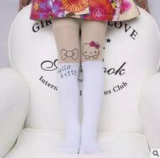 Collant Calze Bianche Hello Kitty Effetto Tatoo Bambina Taglia Unica 2/5 Anni