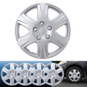 4PC Set 15 inch Silver Hubcap Wheel Cover OEM Replacement Full Lug Skin Durable