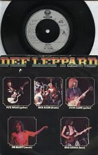 "DEF LEPPARD   Rare 1979 UK Only 7"" OOP Vertigo Label Rock P/C Single ""Wasted"""