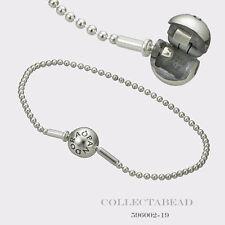 "Authentic Pandora Essence Beaded Sterling Silver Clasp Bracelet 8.3""  596002-21"