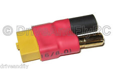 HXT 5.5mm Male to XT-60 XT60 Female 5.5 Bullets No Wires Direct Connector Plug