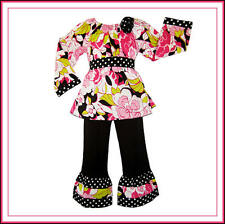 BonEful RTS Girl 4 5 NEW Resell Boutique Baby Doll Dress Top Capri Ruffled Pants