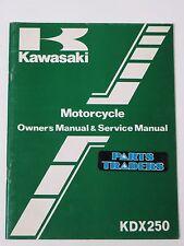 Nos Kawasaki Motorcycle Owner's & Service Repair Manual Kdx 250 Kdx250 1984 84 (Fits: Kawasaki)