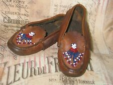 Antique Vintage Baby Shoes / Slippers / Beaded Moccasins /