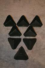 25 Stück Ecken / Kantenschutz aus schwarzen sehr stabilen Kunststoff