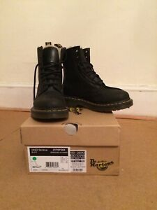 doc marten fur lined black leather boots Serena 3