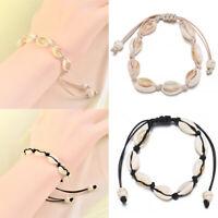 Natural Cowrie Beads Shell Bracelet Handmade Hawaiian Beach Foot Jewelry Anklet