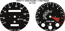 SUZUKI T250 HUSTLER T350 REBEL T500 TITAN COBRA SPEEDO TACHO CLOCK OVERLAYS
