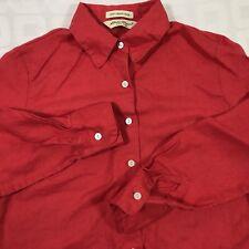 EDDIE BAUER Women's Petite Size S Irish Linen Button Front Long Sleeve Shirt Top