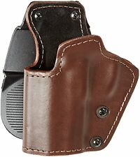 Gun Holster Front Line Three Layer Paddle Brown Synthetic Leather, Kydex, Suede