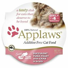 Applaws Premium Grain Free Wet Cat Food, Tuna with Crab, Only 4 Ingredients, .