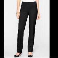 Talbots Womens Heritage Fit Dress Pants Size 10P Black Straight Leg Wool Blend