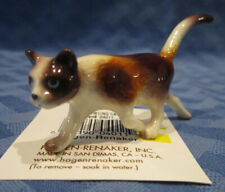 Hagen Renaker Miniature, Prowling Cat, calico, #04011, Made in Usa