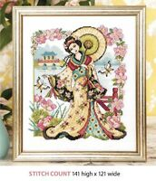 ORIENTAL GARDEN   CROSS  STITCH PATTERN ONLY     ALS    QR