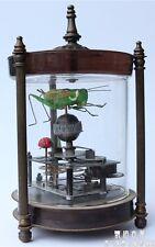 Available handmade antique mechanical clock locust pointer bronze statue watches