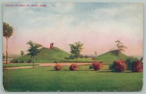 St Paul Minnesota~Indian Mounds~Vintage Postcard