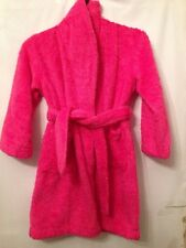 Used Girls Age 6-7 Pink Soft Sparkly Bath Robe Night Wear Dressing Gown