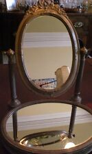 Lovely gilded free standing dressing table mirror with mirrored base