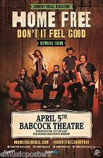 "HOME FREE ""DON'T IT FEEL GOOD SPRING TOUR"" 2016 MONTANA CONCERT POSTER - Country"
