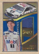 Clint Bowyer BO 2017 Select NASCAR Racing Swatches Blue Prizm 003/199