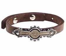 Portative Spectrostat Steampunk Brown Leather Strap Bracelet Alchemy Gothic A118