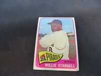 1965 TOPPS WILLIE STARGELL PITTSBURGH PIRATES CARD # 377 VG