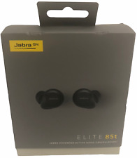 Jabra Elite 85t True Wireless Advanced Active Noise Cancelling Earbuds, Black
