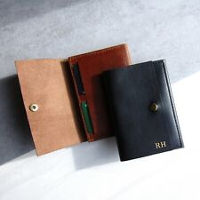 Handmade Luxury Personalised Leather Passport, Document & Credit Card Holder