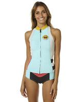 BNWT BILLABONG LADIES SALTY DAZE WETSUIT JACKET VEST (8) SURF BLUE RRP $100